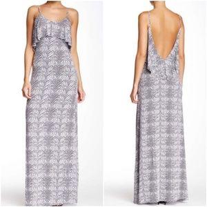 Tart Warwick Jersey Ruffle Front Maxi Dress